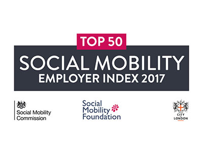 Social Mobility Index top 50 employer 2017
