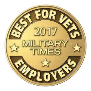 military times 2019 best for vets employer award. Logo.
