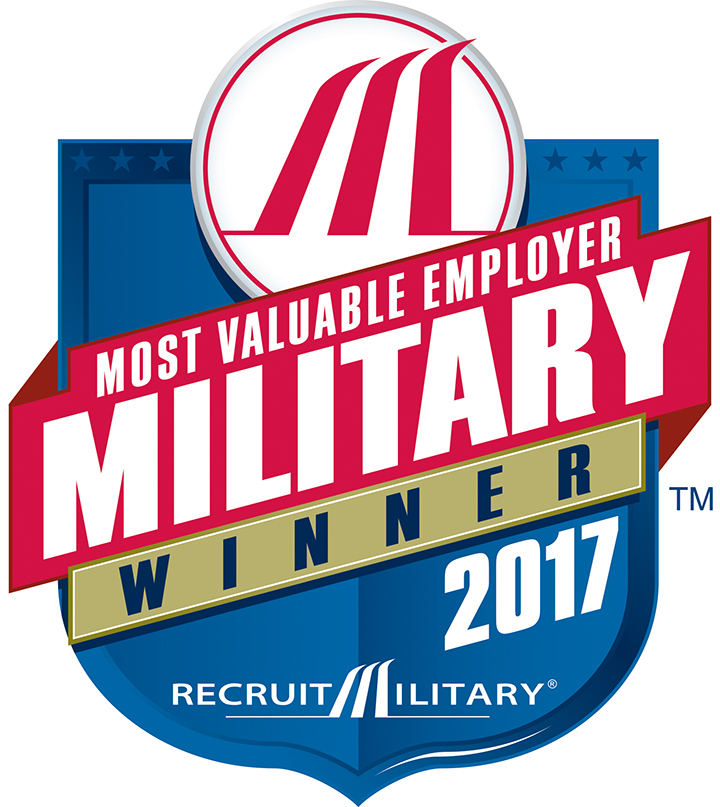 Recruit Military Most Valuable Employer awards logo