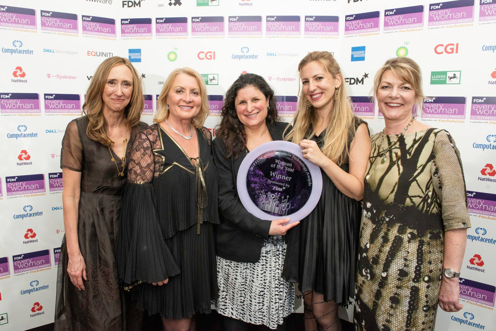 A group of attendees at the 2019 everywoman awards 2019, including FDM COO Sheila Flavell.