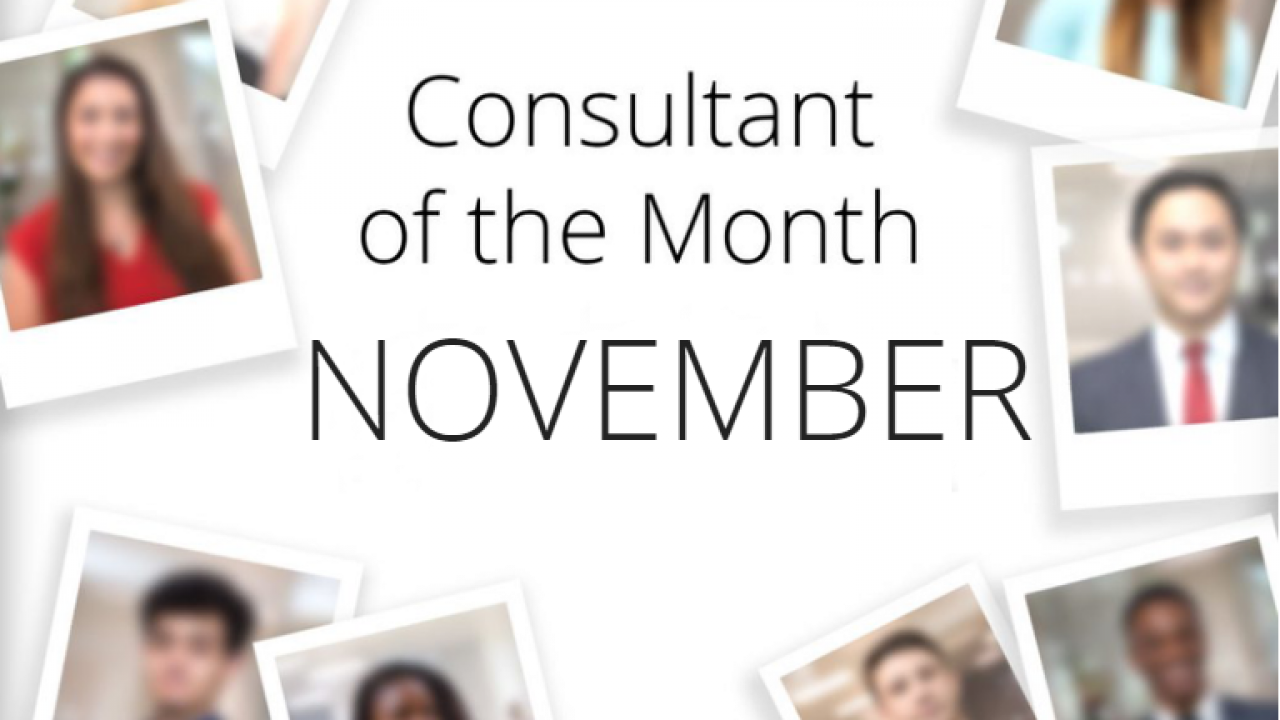 Consultant of the Month – November 2018 | Blog | FDM Group