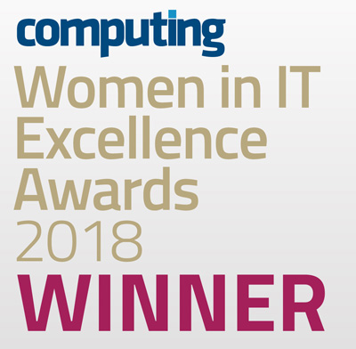Winner of Women in IT excellent Awards 2018 badge