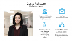 f.d.m. marketing intern Guste Rekstyte.