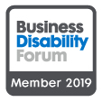 Business Disability Forum member 2019 badge
