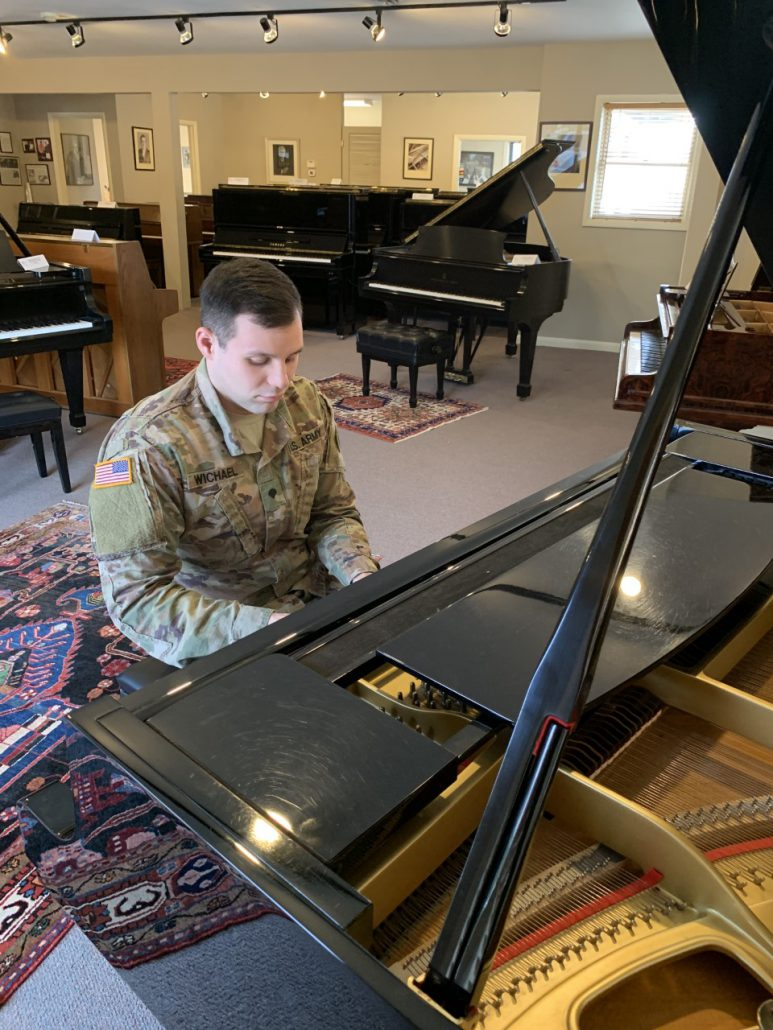 Marcus Wichael has a passion for playing the piano