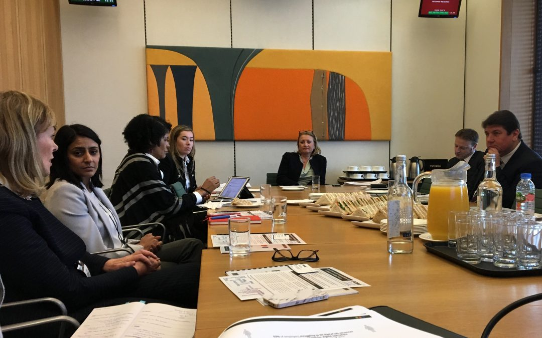 Sheila Flavell discussed reducing the skills gap with MPs