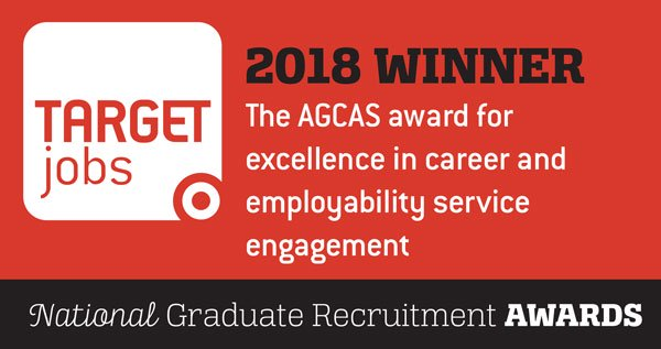 target jobs 2018 winner for excellence in career and employability engagement badge