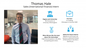 f.d.m. sales intern Thomas Hale/