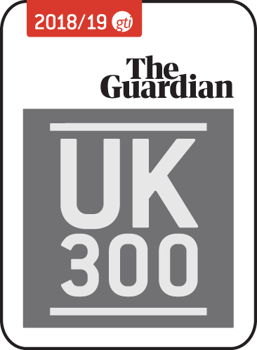 The Guardian UK 300 graduate recruitment award logo