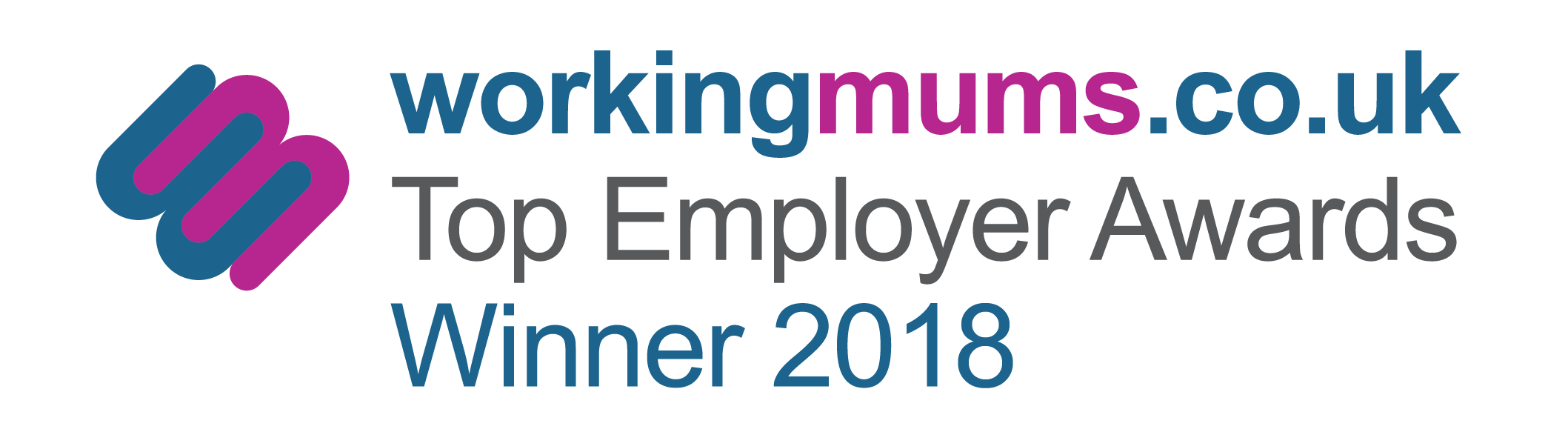 working mums dot co uk top employer 2018 award logo.