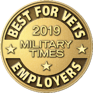 Military Times Best for Vets 2019 employer award logo.