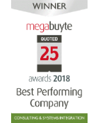 Megabuyte awards 2018 best performing company award logo
