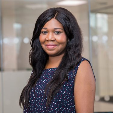 f.d.m. London HR Operations Manager Tolu Babatola.